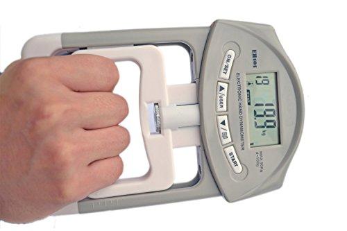 Foto de Deyard electrónica dinamómetro la fuerza de agarre de la mano del medidor 90 kg / 200 lbs Margen de capacidad