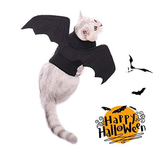OHANA Katzen Hunde Halloween Kostüme, Kostume fur Hund Cosplay Prop Partei Kleidung Outfit Flügel, schwarz Vampir Fledermaus Flügel Kostüm für besondere Anlässe Kostüm für Katzen Hunde
