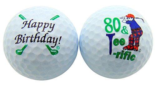 Westman Works 80& Tee-riffic Eightieth Birthday Golf Ball Set of 2Kugeln und Display Box