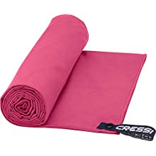 Cressi Microfibre Fast Drying Towel, Red, 50 x 100 cm