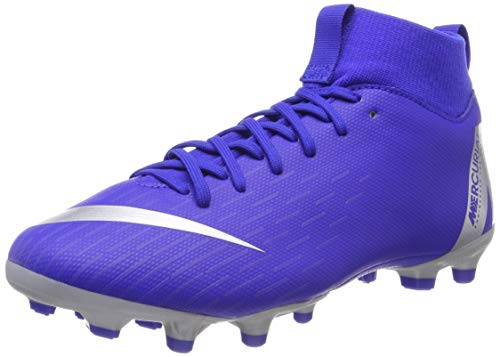 Nike Unisex-Kinder JR Superfly 6 Academy GS FG/MG Fußballschuhe Mehrfarbig (Racer Blue/Metallic Silver-Black-Volt 400) 37.5 EU