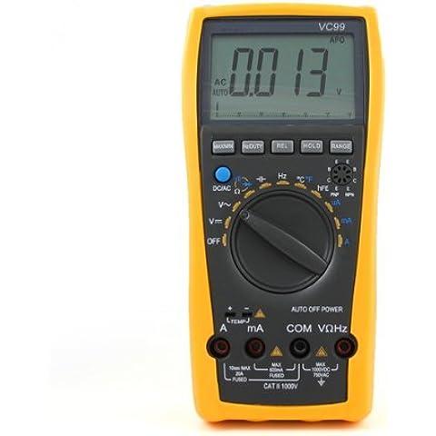 Mengs® VC99 6000 3 6/7 Auto Bereich professionelle digitale LCD Multimeter Voltmeter Amperemeter ohm ac dc Schaltung checker alle Funktion mit analogem einzublenden ein Jahr Garantie