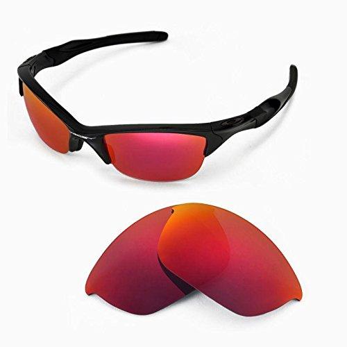 sunglasses restorer Kompatibel Ersatzgläser für Oakley Half Jacket 2.0 | Polarized/Photochromic (Ruby Red | Polarized)