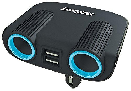 Energizer 50504Double Socket und Twin USB Adapter/Ladegerät, 12V