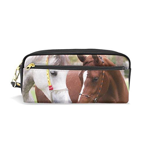 ahomy Federmäppchen Pferd Baum Studenten Pen Tasche groß Kapazität Kosmetik Make-up Brieftasche Tasche für Damen -