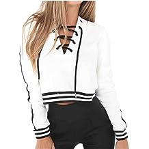 Sudaderas mujer Amlaiworld Sudadera manga larga mujer Suéter casual Jersey Tops chaqueta