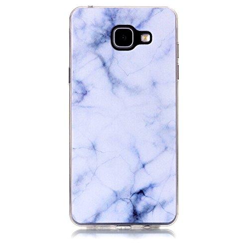 FESELE Silikon Handy Hülle für [Samsung Galaxy A5 2016], Durchsichtig Ultradünn TPU Handytasche für Samsung Galaxy A5 2016 Bunt Malerei Muster Transparente Schutzhülle Weiches Silikon Tasche Hüllen Rü Marmor Weiß