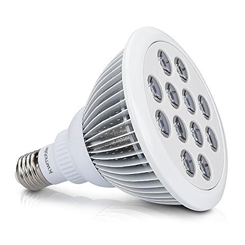 kwmobile LED Pflanzenlicht E27 Fassung - 12W Pflanzenlampe Grow Lampe