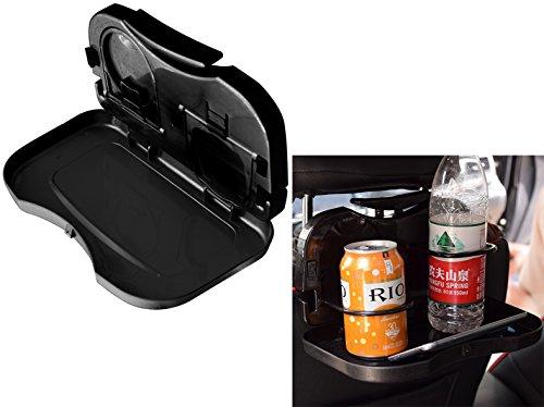 Preisvergleich Produktbild DaoRier Auto Getränke Tabletts Snack Lebensmittel Regale Automotive Falten zurück Platte Teleskop Esstisch Tisch Tablett Ständer Teller Schwarz