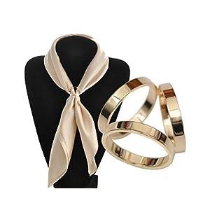 1 x modischer Schal-Clip, für Damen und Mädchen, mit Schnalle, Schal, Schieben, für Schmuck, Seide, Sarf 2cm Golden