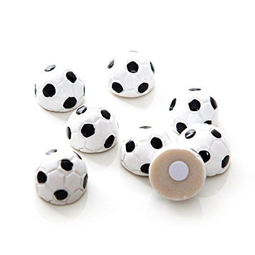 8 kleine Mini Deko-Fußbälle 2 cm schwarz weiß Klebepunkt WM EM Tisch-Deko Tischschmuck Miniatur Fußball-Club Bayern Europameisterschaft Weltmeisterschaft Streudeko Tischstreu