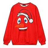 Jaminy Unisex Slim Fit Hoodie Sweatshirt Herbst Winter Frauen Jumper Langarmshirt Streetwear Christmas Bluse Tops (Einheitsgröße, Rot)