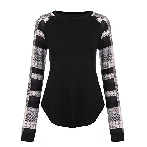 TUDUZ 2019 Mode Damen Gestreiftes T-Shirt Lose Langarm Top Bluse