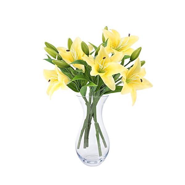 NNIUK lirio Flor artificial Ramo de la flor del lirio para el partido / el hogar / la oficina / la boda / los sepulcros…