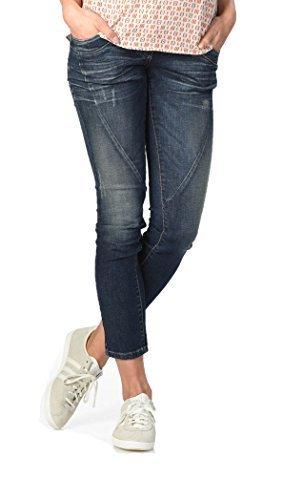 Christoff Schwangerschaftshose Umstandsjeans Five-Pocket-Jeans - Slim - normaler Bund Used-Optik - elastisches Bauchband - 22/94 - blau - 46 / L32 - Pocket Maternity Jeans Boot Cut