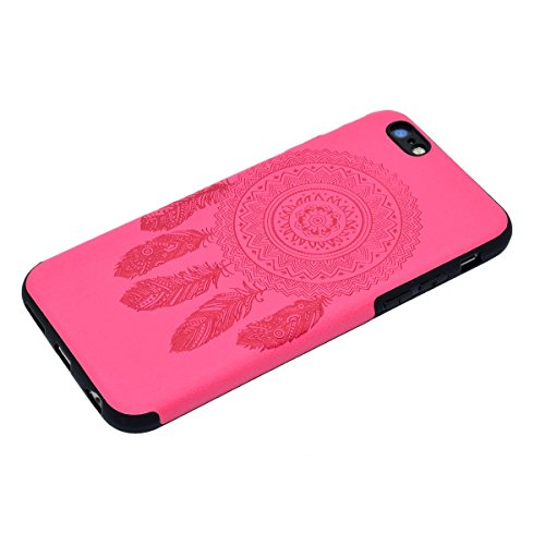 Custodia inShang cover per iPhone 7 4.7 Cellulare,super slim e leggero TPU materiale Cover posterior stili per iPhone7 4.7 inch Rose chimes