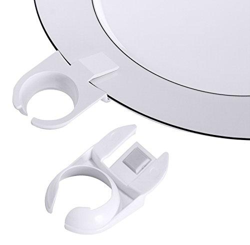 Gläserhalter/Tellerclip für Sektflöten aus weißem ABS-Kunststoff / Länge: 8 cm, Ø innen: 3 cm | ERK