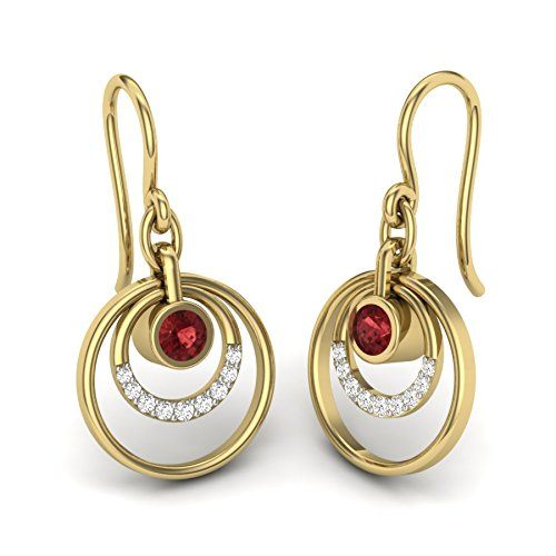Perrian 18KT Yellow Gold and Diamond Stud Earrings for Women