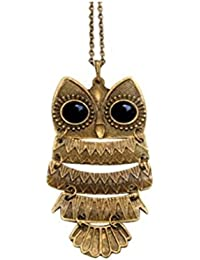 Stone River Jewellery Bronzed Vintage Style Owl Necklace Pendant