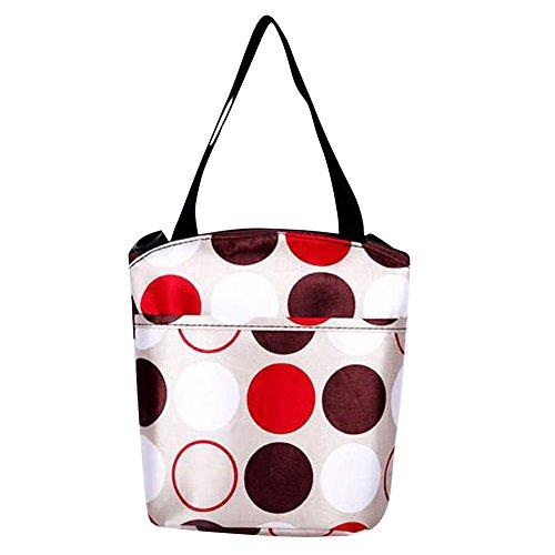 Mittagessen Beutel Warm Halten Handtasche Multifunktions Mama Tasche Braun Herz Beige Kreis