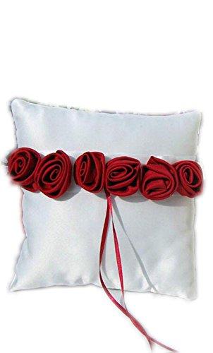 XYX Wedding Rosen-Blumen-Korb-Ring-Kissen Gästebuch Pen Stand Schild, Rot (Ringkissen) - Ring-kissen Gästebuch,