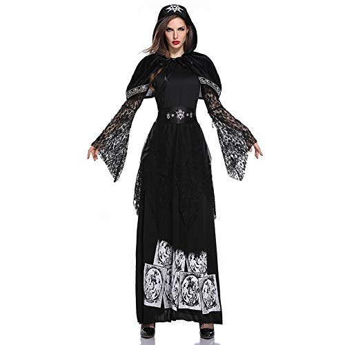 Braut Satans Kostüm - MIKLL Halloween Erwachsene Kostüm,Satan Hexe Vampir Zombie Braut Halloween Abendkleid,Frauen Kleid Cosplay,Mantel Ghostly Bride Costume,Damen Dress Set für Karneval Halloween Kostüm Party Cosplay