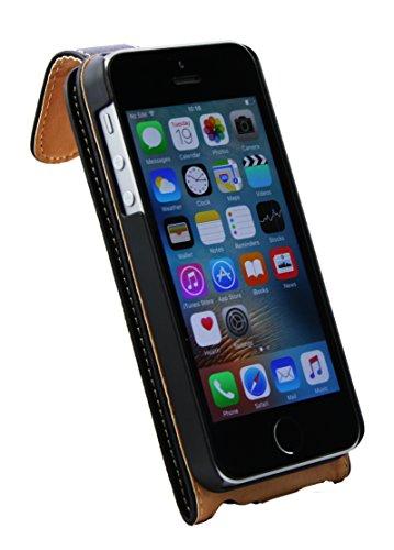 Emartbuy® Apple iPhone SE Brieftaschen Brieftasche Etui Hülle Case Cover aus PU Leder Polka Dots Rot Weiß mit Kreditkartenfächern Schwarz Flip Case