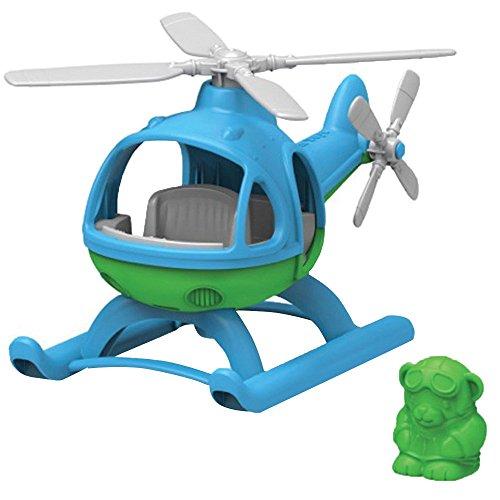 Green Toys - 66077 - Véhicule Miniature - Modèle Simple - Hélicoptère - Bleu