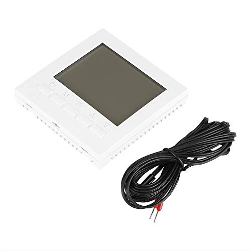 Digital-Thermostat, Programmierbar WiFi W-lan Kabellos Thermostat, Unterflur Temperaturregler LCD Bildschirm Heizung Thermostat mit Hintergrundbeleuchtung, Support App Control