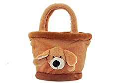BROWN SMALL BASKET BAG - 35 CM
