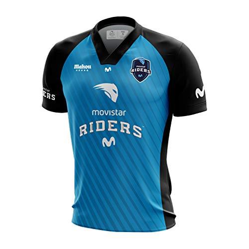 Movistar Riders Oficial 2019 Camiseta, Azul 000, Large Tamaño del Fabricante:L para Hombre