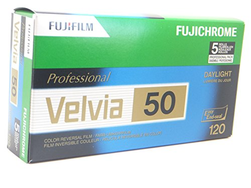Fuji Velvia 50 120 5er Pack Dia-Film 120 Roll Pack