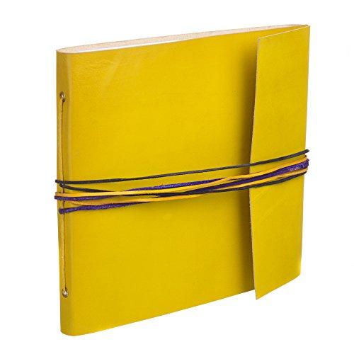 3String grande album portafoto in pelle giallo, 260x 240mm