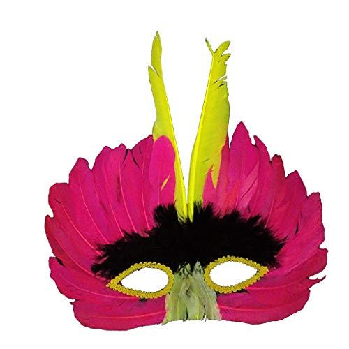 Unbekannt Mask- Erwachsenen Ball Maske Feather Maske Zeigen halbe Gesicht Halloween Kinder Requisiten (Farbe : ()