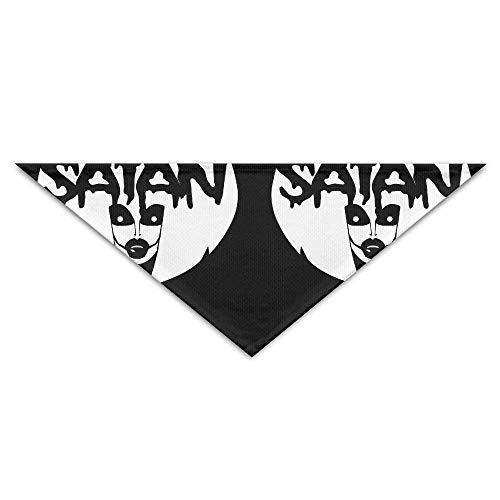 Kostüm Satana - Wfispiy Lovely Hail Satan Mask PrintingDog Birthday Pet Bandana Collars for Dogs and Cats