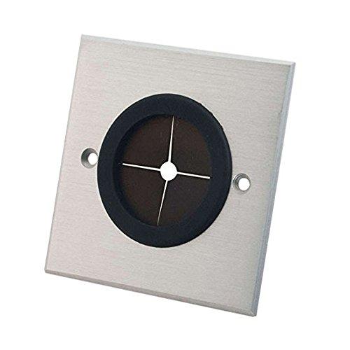 c2g-rapidrun-single-gang-381cm-grommet-wall-plate-brushed-aluminum