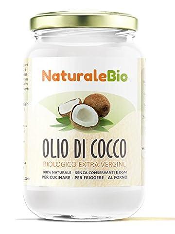 Huile de Coco Extra Vierge 500 ml - Crue et Pressée à Froid - Pure et 100% Bio - Idéale Pour Les Cheveux, Le Corps et Comme Aliment - Huile Bio Native Non Raffinée