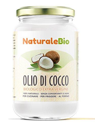 Aceite de coco extra virgen 500 ml - Crudo y prensado en frío - Puro y 100{931254b41356c505d3a5d2c76b6d36040491aa5bf6e71368e2939f7517cd3d9a} biológico - Ideal para cabello, cuerpo y para uso alimentario - Aceite bio nativo no refinado - (NaturaleBio)