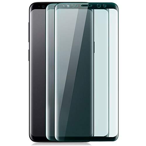Arrivly |2 Pack| 5D Panzerglas Fingerabdruck Für Samsung S9 Gekrümmtes |HD Ultra-klar| Schutzglas 9H Curved Fingerprint Sensor unterstützung Glass Screen Protector Glas (Samsung Galaxy S9) -