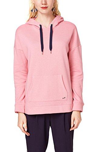 edc by ESPRIT Damen Sweatshirt 088CC1J009, Rosa (Dark Old Pink 675), Large