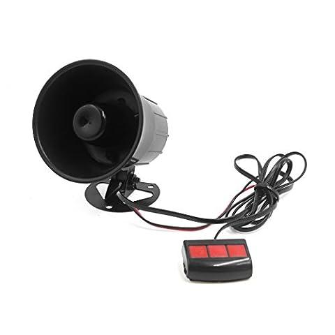 sourcingmap® 12V 15W Car 3 Tone Air Horn Loudspeaker Annunciator W Remote Control Unit