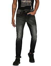 RUF & TUF Solid Black Coloured Cotton Blend Jeans