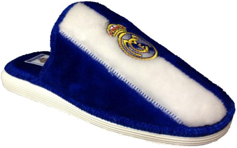 Real Madrid Herren Hausschuhe Blanco/Azul  Billig und erschwinglich Im Verkauf