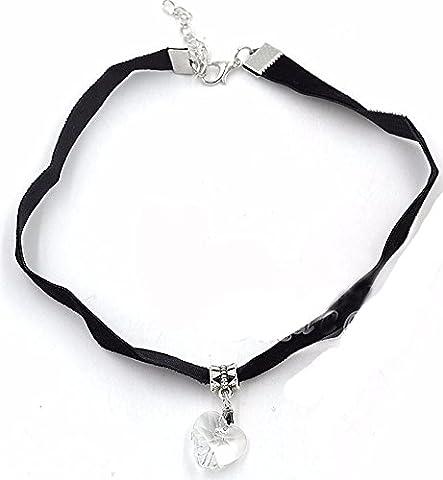 SaySure - Heart Crystal Choker Handmade Necklace Pendant