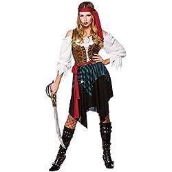 Traje de pirata del caribe para mujer, M.