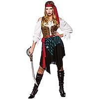 Wicked - Disfraz de pirata del caribe para mujer, talla M - 42-44 cm