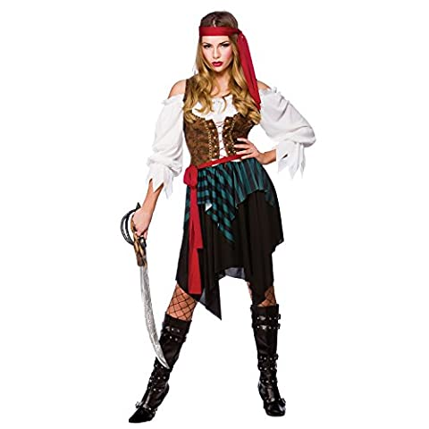Costumes Ladies Fancy Dress - Caribbean Pirate Ladies Fancy Dress Costume Small