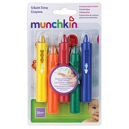 Munchkin Bath Time Toy Crayons - Multi-Coloured, Pack of 5