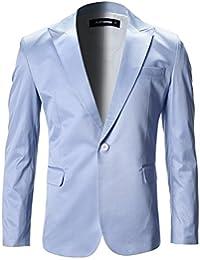FLATSEVEN Chaqueta Blazer Slim Fit Elegantes Solapa En Pico