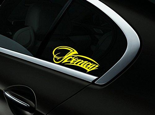 Iceman Kimi Raikkonen F1 Auto- Fenster-Aufkleber- Abziehbild- Styling, Gelb - Getönte Fenster-abziehbild